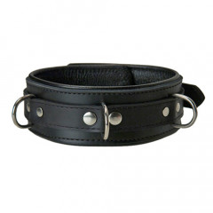Classic Black Leather Collar