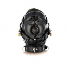 Ultimate Black Leather Sensory Deprivation Hood