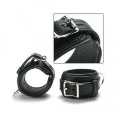 Classic Black Leather Wrist Cuffs