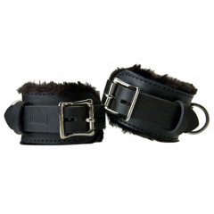 Faux Fur Lined Leather Cuffs for Wrists