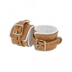 Institutional Padded Leather Wrist  Restraint Cuffs