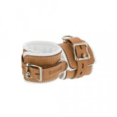 Institutional Padded Leather Ankle Restraint Cuffs