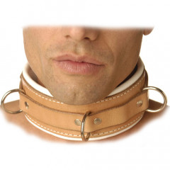 Institutional Padded Leather Restraint Collar