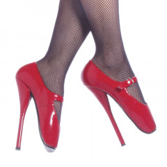 These shiny red Mary Jane Ballet Shoes are great for those that love high heeled ballet  shoes.