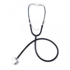 This black stethoscope is great addition to any kinky doctor or nasty nurse's collection of medical instruments.