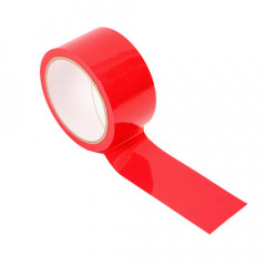 This shiny red Bondage Tape is amazingly sexy and easy to use. It only sticks to itself not your hair, skin, clothes or furniture.