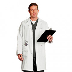This real doctors lab coat is your prescription for an authentic doctor's costume or medical fetish play outfit.