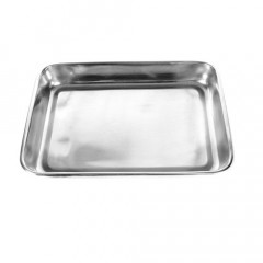 Our medium stainless steel medical instrument tray is great for medical fetish clinics.