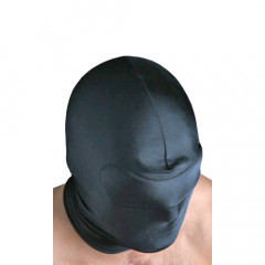 Awesome low cost spandex blindfold hood with built in padded blindfold.