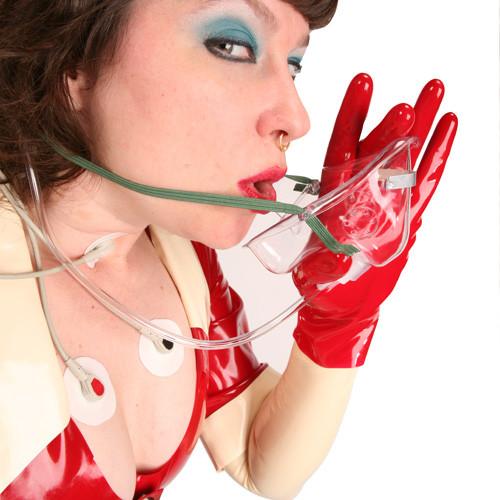 Busty whore medical oxygen mask fetish yeea