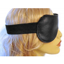 Classic Black Leather Blindfold