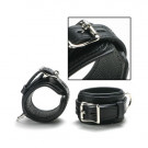 Classic Black Leather Ankle Cuffs