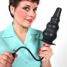 Giant enema nozzle and butt plug, are you up to the challange?