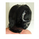 This is one amazing padded latex sensory deprivation hood. 