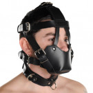 Black Leather Fully Buckling Muzzle